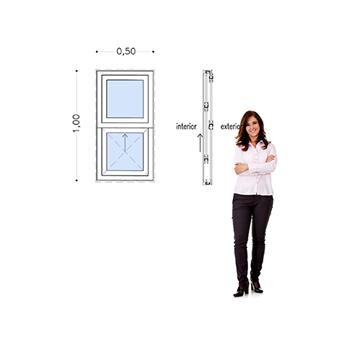 Imagen de Ventana PVC DVH 50 x 100 doble vidrio guillotina.
