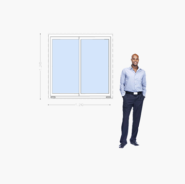 Imagen de Ventana PVC DVH 120x120 doble vidrio corredizas