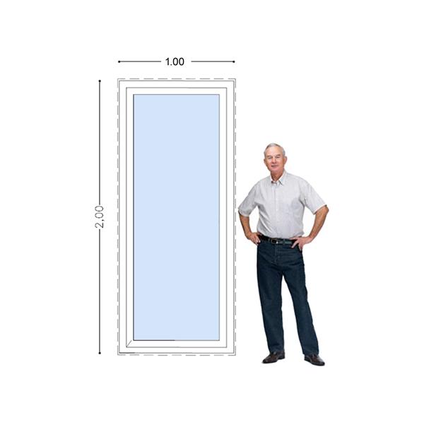 Imagen de Ventana PVC DVH 100 x 200 doble  vidrio fijo
