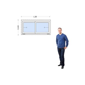 Imagen de Ventana PVC DVH 120 x 60  doble vidrio  corredizas -
