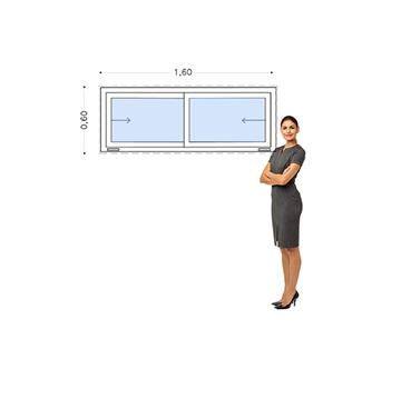 Imagen de Ventana PVC DVH 160 x 60  doble vidrio  corredizas