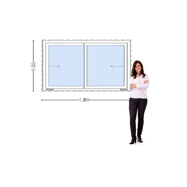 Imagen de Ventana PVC DVH 180 x 100 doble vidrio corredizas