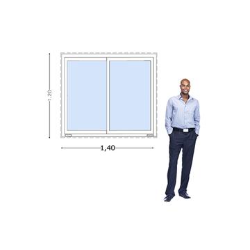 Imagen de Ventana PVC DVH 140x120 doble vidrio corredizas