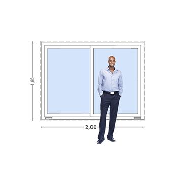 Imagen de Ventana PVC DVH 200x160 doble vidrio corredizas