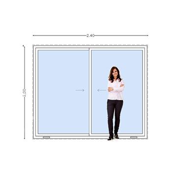 Imagen de Puerta Ventana PVC DVH 240 x 200 doble vidrio corredizas -