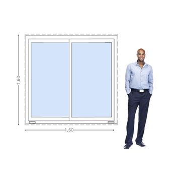Imagen de Ventana PVC DVH 160 x 160  doble vidrio corredizas -