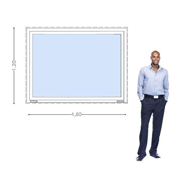 Imagen de Ventana PVC DVH 160 x 120  doble vidrio fijo