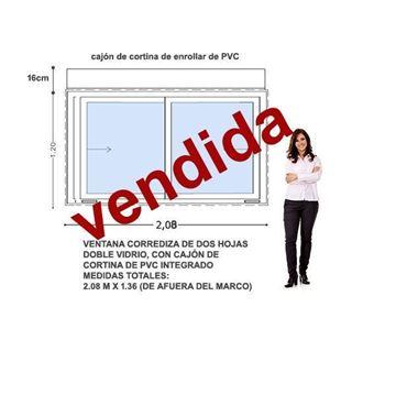 Imagen de 40%OFF-Ventana PVC 200 x 120  CON CORTINA INTEGRADA