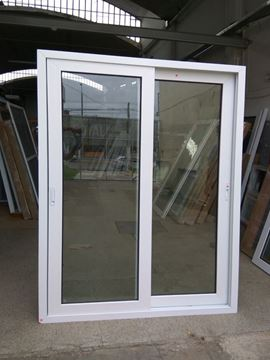 Imagen de 20%OFF- Puerta Ventana PVC 140 x 200 doble vidrio corrediza.