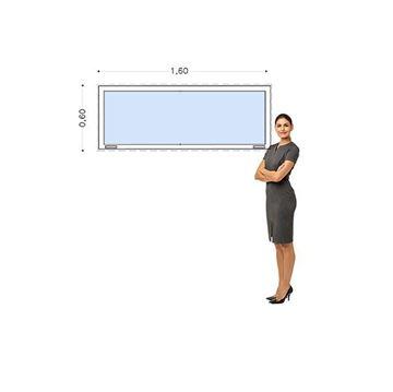 Imagen de Ventana PVC DVH 160x60  doble vidrio  fija