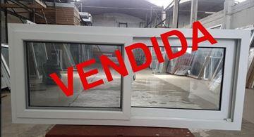 Imagen de VENDIDA - 20%OFF-Ventana PVC 140 x 60  doble vidrio  corredizas