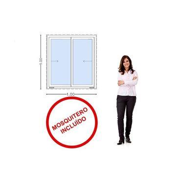 Imagen de Ventana PVC 100x100  VIDRIO 5mm templado  corrediza - INCLUYE MOSQUITERO STKC-SG100100