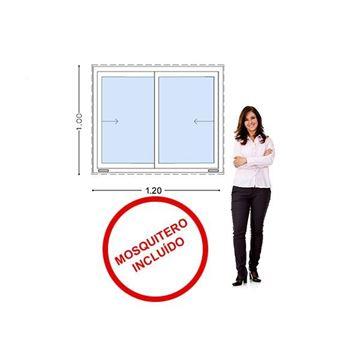 Imagen de Ventana PVC 120 x 100  VIDRIO 5mm templado- INCLUYE MOSQUITERO  STKC-SG120100