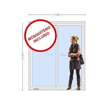 Imagen de 35% OFF Puerta Ventana PVC 180x200  VIDRIO SIMPLE TEMPLADO  corrediza INCLUYE MOSQUITERO. STKC-SG180200