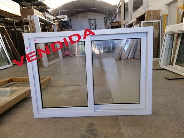 Imagen de VENDIDA - 40%OFF-Ventana PVC 140 x 100 doble vidrio  corrediza.