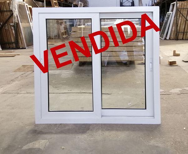 Imagen de 35%OFF- Ventana PVC 110 x 117 doble vidrio corrediza