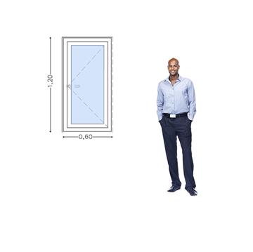 Imagen de 30%OFF-Ventana PVC 60x120 doble vidrio batiente AL INTERIOR. STB60120-14