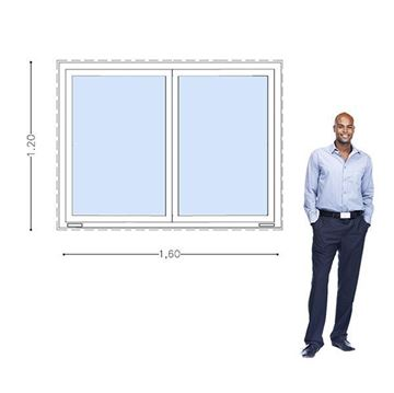 Imagen de Ventana PVC DVH 160 x 120  doble vidrio corrediza -