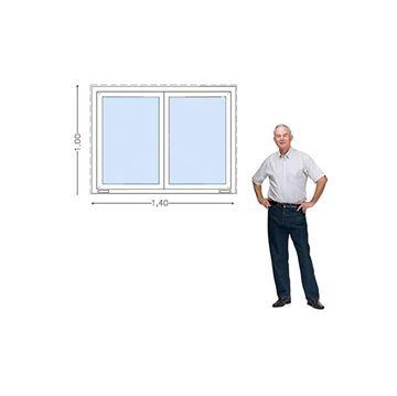 Imagen de Ventana PVC DVH 140 x 100 doble vidrio  corredizas