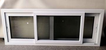 Imagen de 20%OFF-Ventana PVC 160 x 60  doble vidrio  corredizas. INCLUYE MOSQUITERO -STKC16060-08