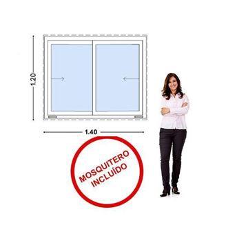 Imagen de Ventana PVC 140 x 120  VIDRIO - INCLUYE MOSQUITERO.STKC-SG140120