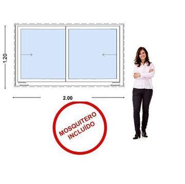 Imagen de Ventana PVC 200 x 120  VIDRIO 5mm templado - INCLUYE MOSQUITERO.STKC-SG200120